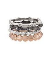 SOLD!!!!atelyn Mixed band rings, size 7,  was $49,now $20!