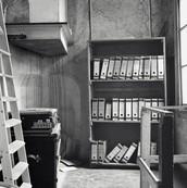 The bookshelf form the office veiw