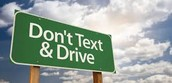 Read the signs don't text and drive