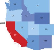 States bordering California