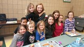 AHS Student Council members came to eat lunch with our students.