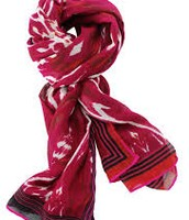 Palm Springs Scarf - Red Ikat $20
