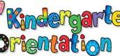 Kindergarten Orientation is Thursday, May 12