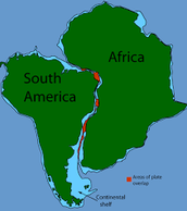 America separates from Africa and South America