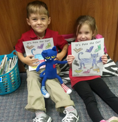 Cruz and Avery with Pete the Cat!