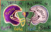 Date Rivals! Customize to match YOUR TEAMS COLORS!!!