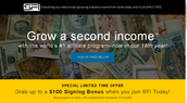 Bonus paid over time, with commissions, maximum 18 months