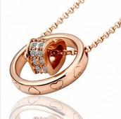 Rose Gold Heart Ring Pendant
