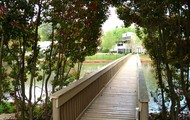 Take a realxing walk over the bridge across Ashford Lake