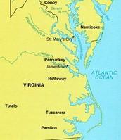Jamestown on Map