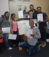 Students from the community completed their Project Management course (NQF5)