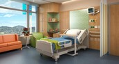 average hopspital room
