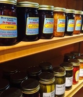 Amish made jams and jellies line our shelves.