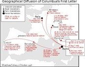 Geographical Diffusion of Columbus' First Letter