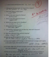 """""""A"""" for """"Most Creative Answers!"""