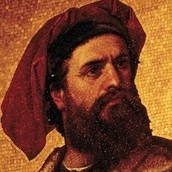 Marco Polo's background.