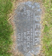 First grave stone