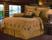 "HiEnd ""Accents"" Luxury Star Bedding 7 Piece Set"