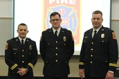Badge Pinning Ceremony for Recently Promoted Officers