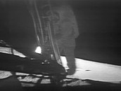 Who Was The First Person To Physically Step On The Moon First?