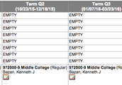 Middle College Schedule