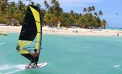 This is a picture of wind surfing