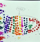 Qadeer's Pointillism Fish