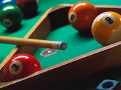 Snap: Playing a game of billiards at Billiards