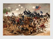 Union Troops Overrun Southern Troops
