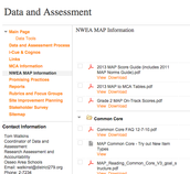 Data and Assessment Site