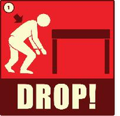 Drop down to the ground