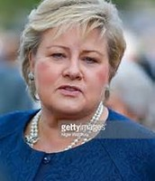 Prim minister of Norway Eraa Solberg