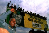 Mandela ran for president in the first multiracial election of South Africa.