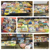 Ms. Anderson & Ms. Kennedy prep thousands of books to give away to Panthers for the summer!
