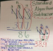 Standard Algorithm Subtraction