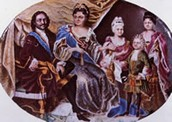 Peter the Great with his wife and three kids