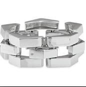 Silver Garbo Link Bracelet