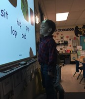 Learning phonics on the smart board is fun!