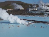 People in Iceland using geothermal energy