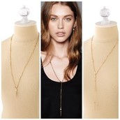 Bianca lariat necklace (gold) $30