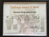 """Challenge Award/Reconocimiento """"Challenge"""" Reto"""