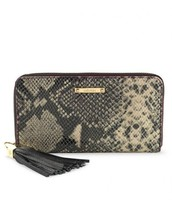 Mercer Zip Wallet - Black Snake