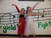 Reganne and I; Dance recital 2008