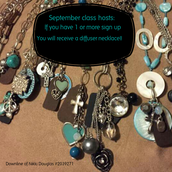 Host a class and get a sign up you will receive a diffuser necklace!
