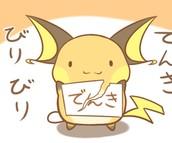 Favorite Pokemon.............RAICHU