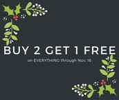 Don't miss out!  Buy TWO get ONE FREE ends tonight!