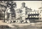 Original school building on Washington Street