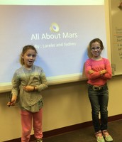 3rd Grade Research Project on Mars