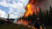 Wildfires can occur neer water