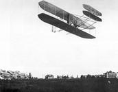 A Wright in flight